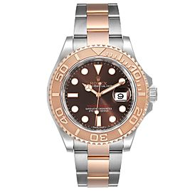 Rolex Yachtmaster 40 Everose Gold Steel Brown Dial Watch 116621