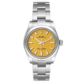 Rolex Midsize 31mm Yellow Dial Automatic Steel Ladies Watch 277200