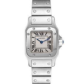 Cartier Santos Galbee Silver Dial Small Steel Ladies Watch