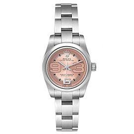 Rolex Nondate Steel Salmon Dial Oyster Bracelet Ladies Watch