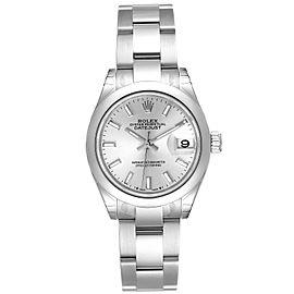 Rolex Datejust 28 Silver Dial Oyster Bracelet Steel Ladies Watch 279160