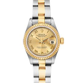 Rolex Datejust Steel Yellow Gold Champagne Dial Ladies Watch
