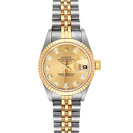 Rolex Datejust 26mm Steel Yellow Gold Diamond Ladies Watch
