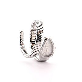 Bvlgari Serpenti Tubogas Single Spiral Quartz Watch Watch Stainless Steel with Diamond Bezel 23