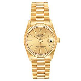 Rolex President Datejust 31mm Midsize Yellow Gold Ladies Watch