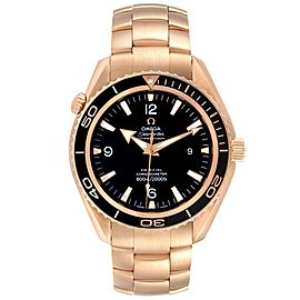Omega Seamaster Planet Ocean Rose Gold Mens Watch 222.60.46.20.01.001