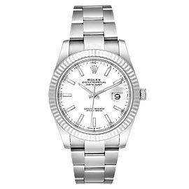 Rolex Datejust 41 Steel White Gold Oyster Bracelet Mens Watch