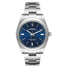 Rolex Oyster Perpetual 39mm Blue Dial Steel Mens Watch