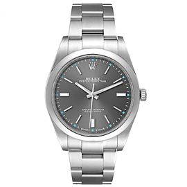 Rolex Oyster Perpetual 39 Rhodium Dial Steel Mens Watch