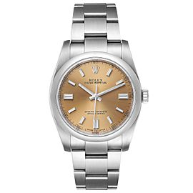 Rolex Oyster Perpetual 36 White Grape Dial Steel Mens Watch