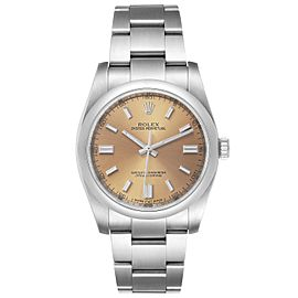 Rolex Oyster Perpetual 36 White Grape Dial Mens Watch