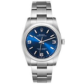 Rolex Oyster Perpetual 36mm Steel Blue Dial Mens Watch