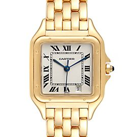 Cartier Panthere Large 18k Yellow Gold Silver Dial Unisex Watch