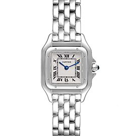 Cartier Panthere 18k White Gold Silver Dial Ladies Watch