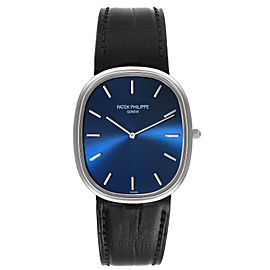 Patek Philippe Golden Ellipse Grande Taille Platinum Blue Dial Watch