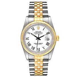 Rolex Datejust Steel Yellow Gold Buckley Dial Vintage Mens Watch