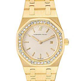Audemars Piguet Royal Oak Yellow Gold Diamond Ladies Watch