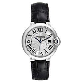 Cartier Ballon Bleu Automatic Stainless Steel Mens Watch W69017Z4