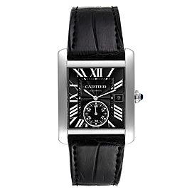 Cartier Tank MC Black Dial Automatic Mens Watch