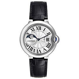 Cartier Ballon Bleu Moonphase Automatic Steel Mens Watch