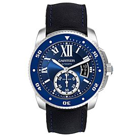 Cartier Calibre Diver Stainless Steel Blue Dial Watch