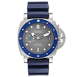 Panerai Luminor Submersible Grey Dial Steel Mens Watch