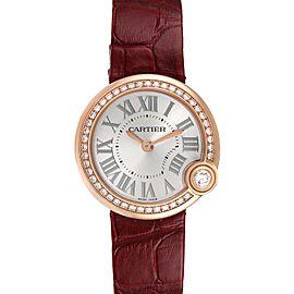 Cartier Ballon Blanc Rose Gold Diamond Ladies Watch
