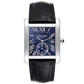 Cartier Tank MC Blue Dial Automatic Steel Mens Watch