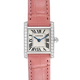 Cartier Tank Francaise White Gold Diamond Ladies Watch