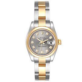 Rolex Datejust Steel Yellow Gold Diamond Ladies Watch