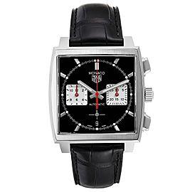 Tag Heuer Monaco Calibre 02 Black Dial Steel Mens Watch CBL2113