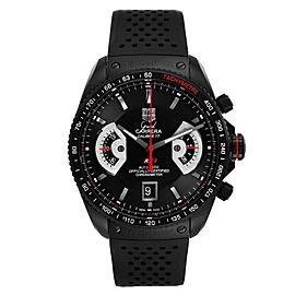 Tag Heuer Grand Carrera Titanium Black PVD Mens Watch
