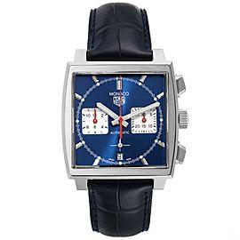 Tag Heuer Monaco Calibre 02 Blue Dial Steel Mens Watch