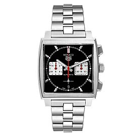 Tag Heuer Monaco Calibre 02 Black Dial Steel Mens Watch