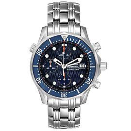 Omega Seamaster Bond Chrono Blue Wave Dial Mens Watch