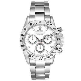 Rolex Daytona White Dial Chronograph Steel Mens Watch