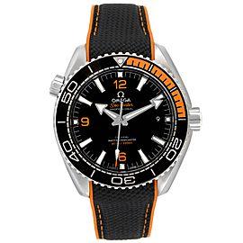 Omega Planet Ocean Black Orange Bezel Watch