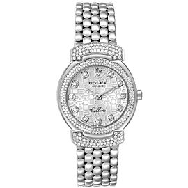 Rolex Cellini Cellissima White Gold Silver Dial Diamond Ladies Watch