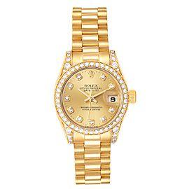 Rolex President Yellow Gold Diamond Dial Bezel Lugs Watch