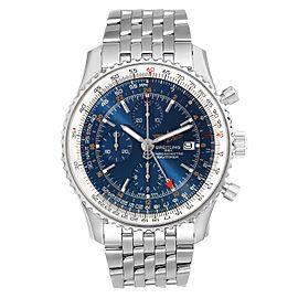 Breitling Navitimer World Blue Dial Steel Mens Watch