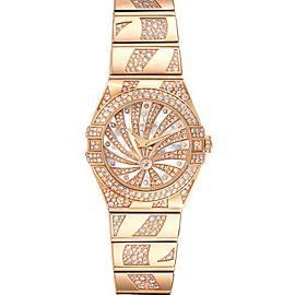 Omega Constellation Diamanten Rose Gold Diamond Ladies Watch 123.55.24.60.55.011
