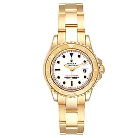 Rolex Yachtmaster 29 Yellow Gold White Dial Ladies Watch