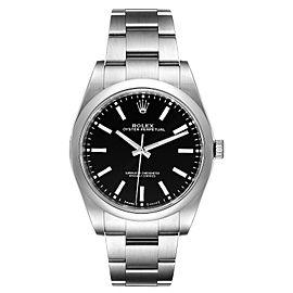 Rolex Oyster Perpetual 39 Black Dial Steel Mens Watch