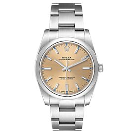 Rolex Oyster Perpetual 34mm White Grape Dial Steel Mens Watch