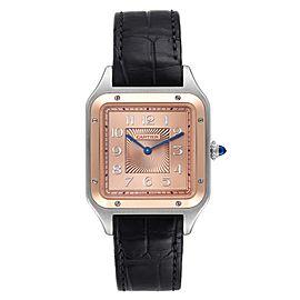 Cartier Santos Dumont XL Steel Rose Gold LE Mens Watch