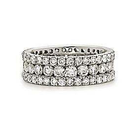 18K White Gold with 3.65ct. Diamond Band Ring Size 6.75