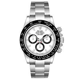Rolex Daytona Ceramic Bezel White Dial Steel Mens Watch
