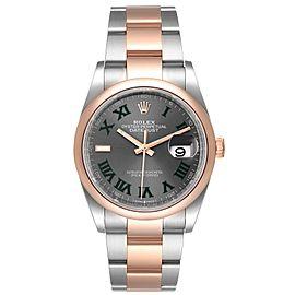 Rolex Datejust 36 Steel EveRose Gold Wimbledon Dial Mens Watch
