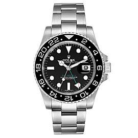 Rolex GMT Master II Black Dial Bezel Steel Mens Watch