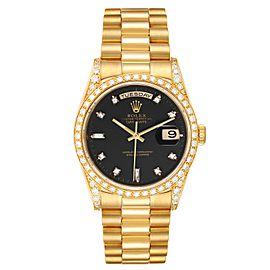Rolex President Day-Date 36 Yellow Gold Diamond Mens Watch